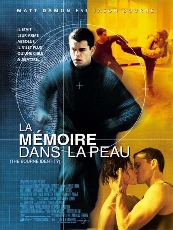 Jason Bourne 1 - La Mémoire dans la peau affiche