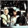 Star Wars : Episode IV - Un nouvel espoir (La Guerre des &#233;toiles) : photo Alec Guinness, George Lucas, Harrison Ford, Mark Hamill