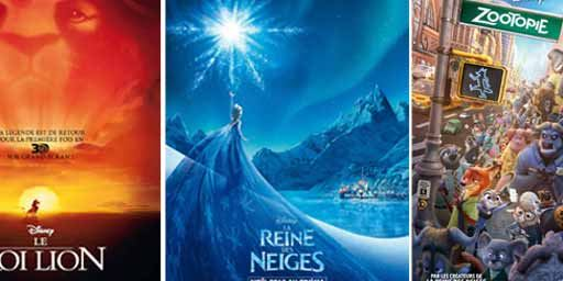 Quels sont les 20 plus grands succès animés de Disney au box-office mondial ?