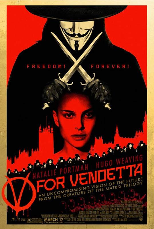 V pour Vendetta : Affiche Hugo Weaving, James McTeigue