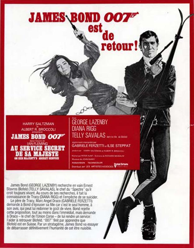 Diana Rigg James Bond Poster