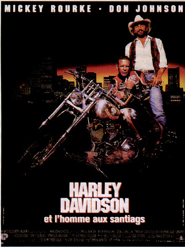 Harley Davidson Et L Homme Aux Santiags Affiche