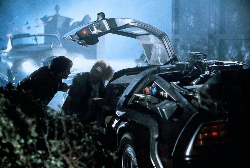 Retour vers le futur : Photo Christopher Lloyd, Michael J. Fox