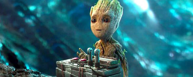Guardians Of The Galaxy Baby Groot Dancing Opening Scene