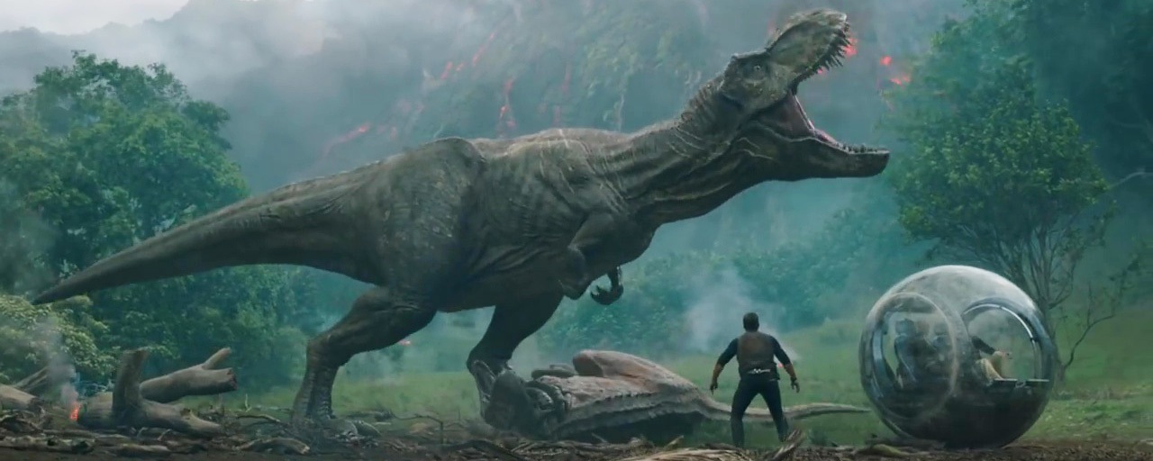 Jurassic world 2 le t rex les v lociraptors et jeff goldblum reviennent dans la bande annonce - Film de dinosaure jurassic park ...
