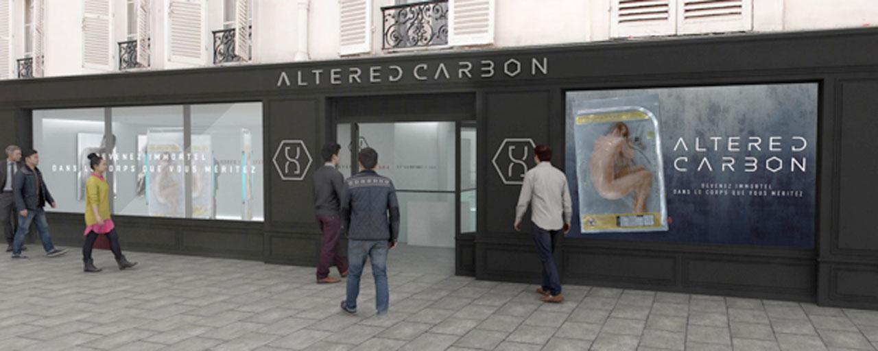 Altered Carbon : un pop-up store futuriste pour découvrir la nouvelle série de Netflix