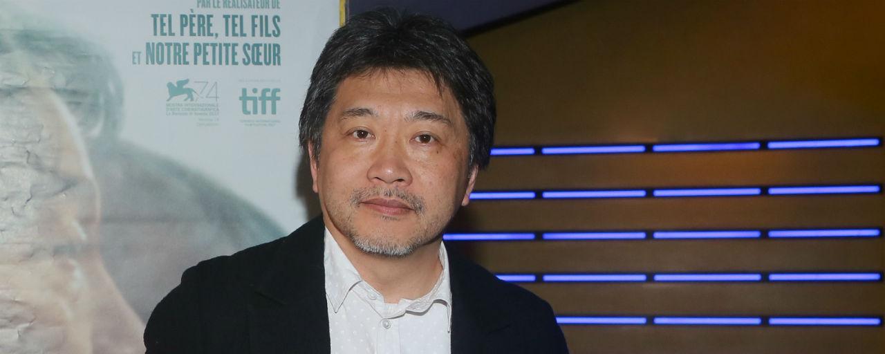 Kore-eda au micro pour Une Affaire de famille, Palme d'or du Festival de Cannes 2018