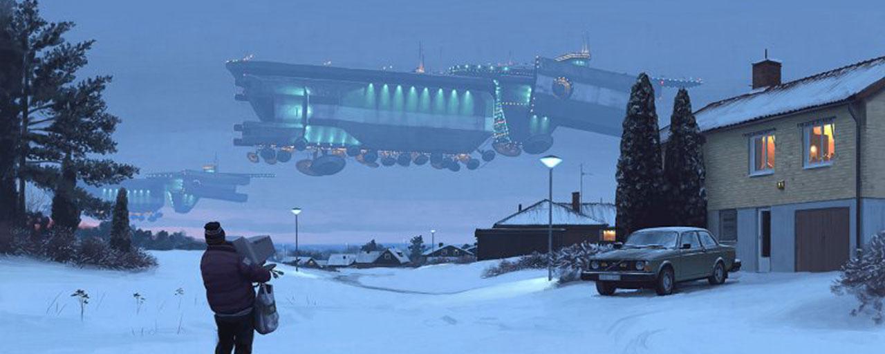Tales From The Loop : Amazon commande une série de SF inspirée par... un tableau !