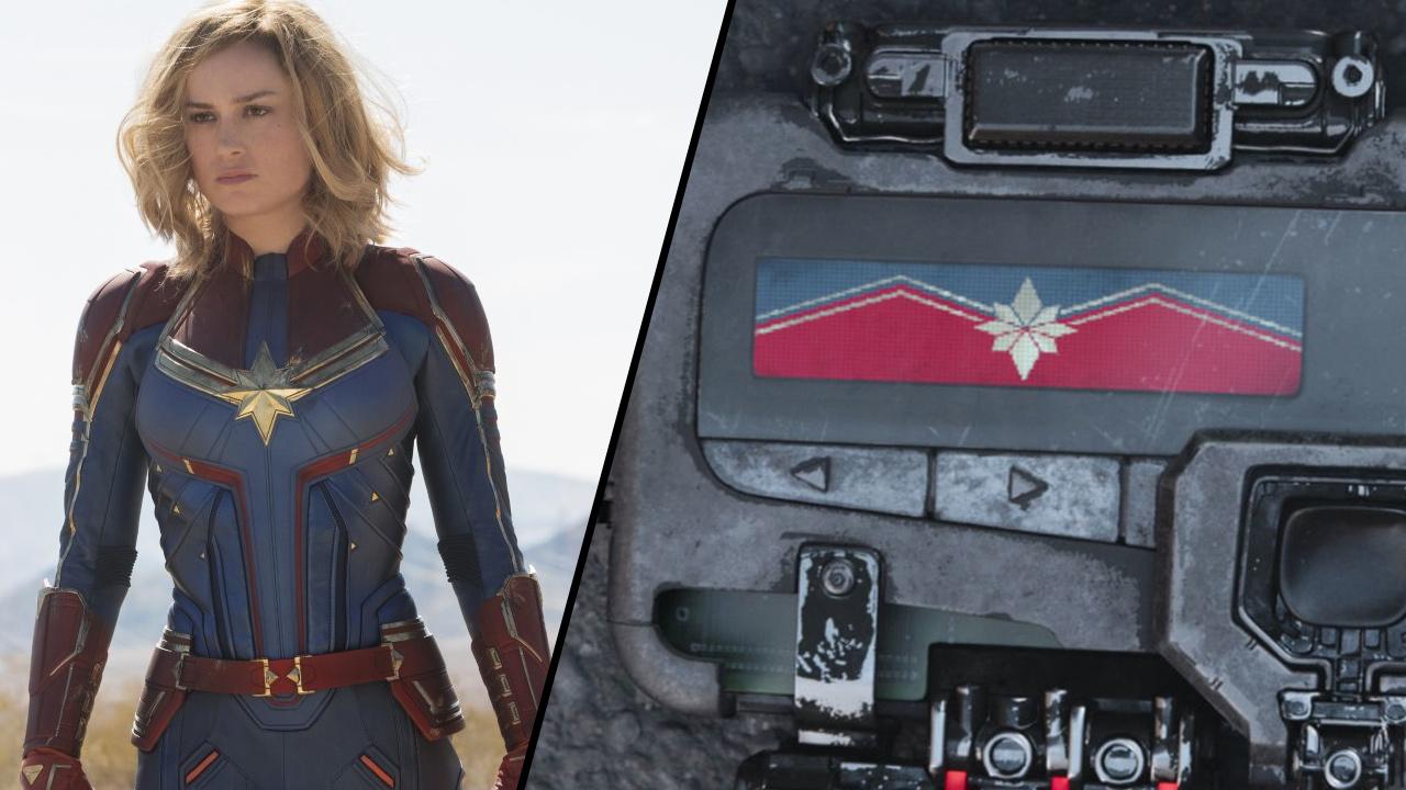 Captain Marvel : c'était son logo à la fin d'Avengers - Infinity War