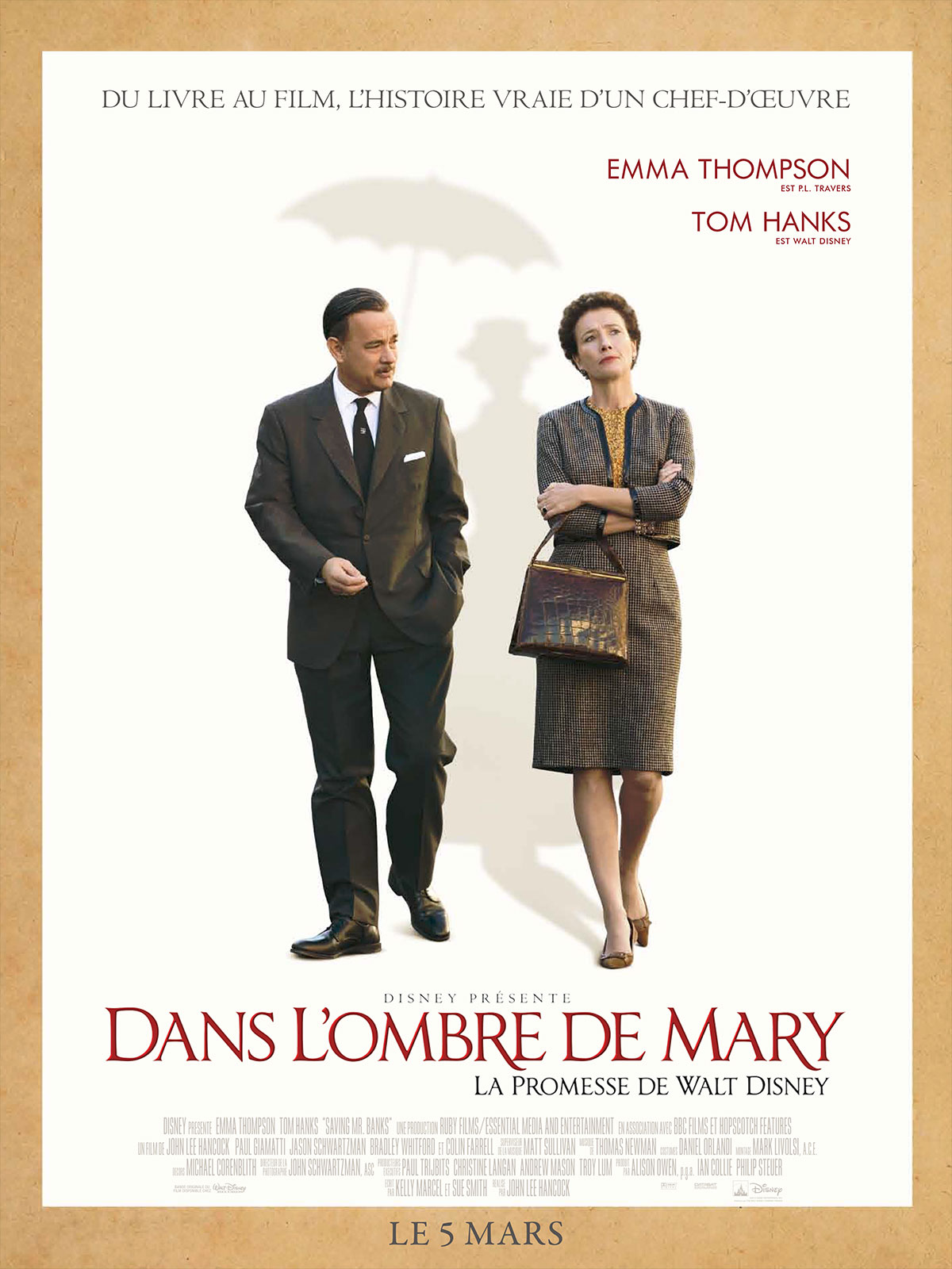 Dans l'ombre de Mary – La promesse de Walt Disney streaming film