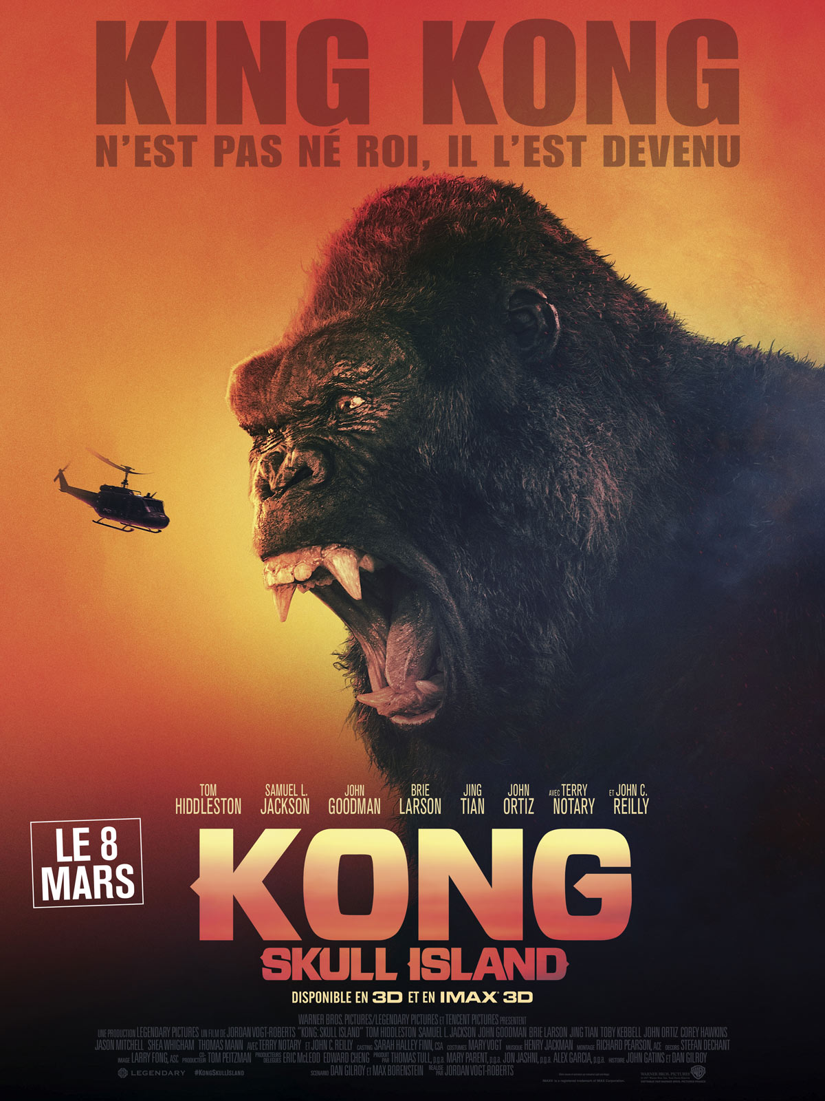 Kong : Skull Island | Vogt-Roberts, Jordan (1984-....). Metteur en scène ou réalisateur