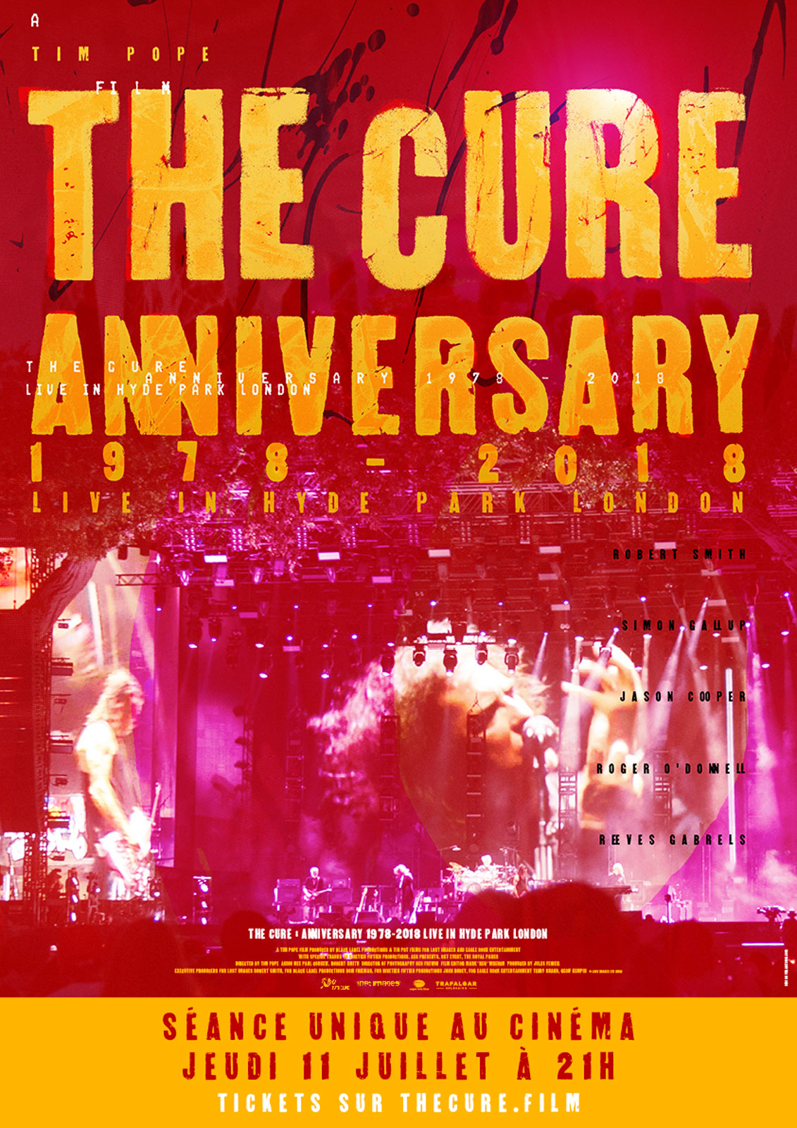 Affiche du film The Cure - Anniversary 1978-2018 Live in Hyde Park London