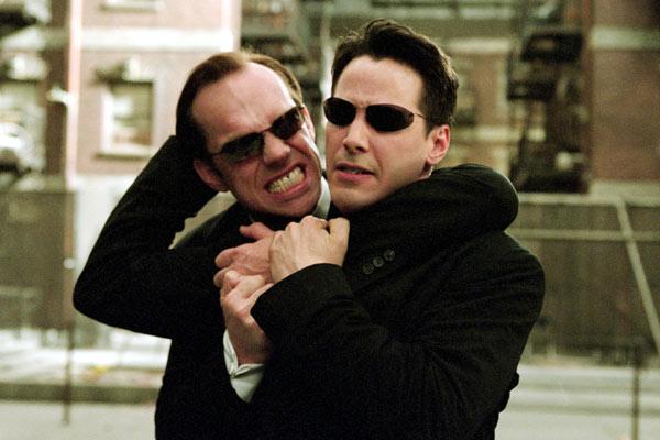 Matrix Reloaded : Photo Hugo Weaving, Keanu Reeves
