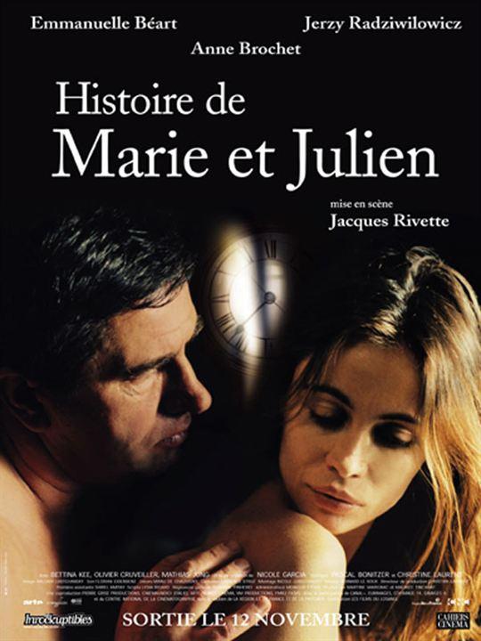 Histoire de Marie et Julien : affiche Emmanuelle Béart, Jacques Rivette, Jerzy Radziwilowicz