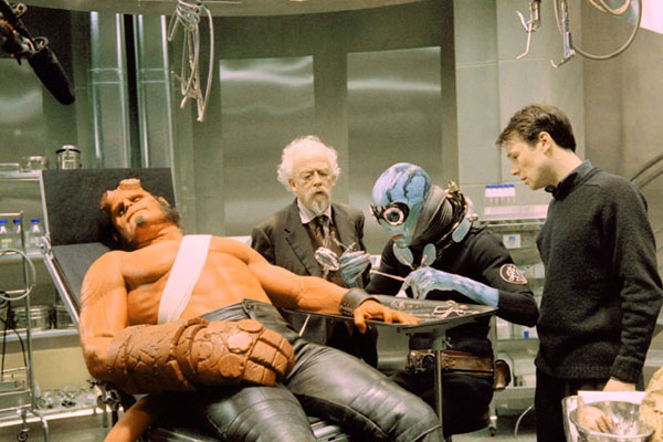 Hellboy : Photo John Hurt, Ron Perlman, Rupert Evans