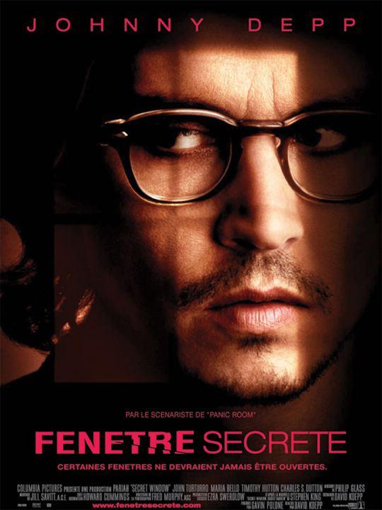 Fenêtre secrète : Affiche David Koepp, Johnny Depp