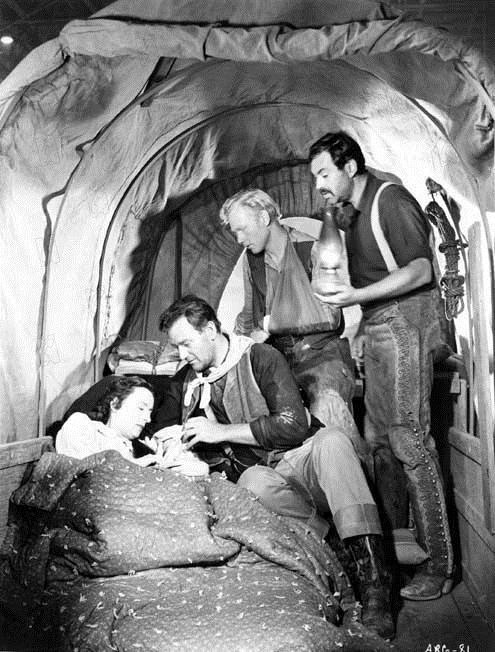 Le Fils du désert : Photo Harry Carey Jr., John Ford, John Wayne, Mildred Natwick