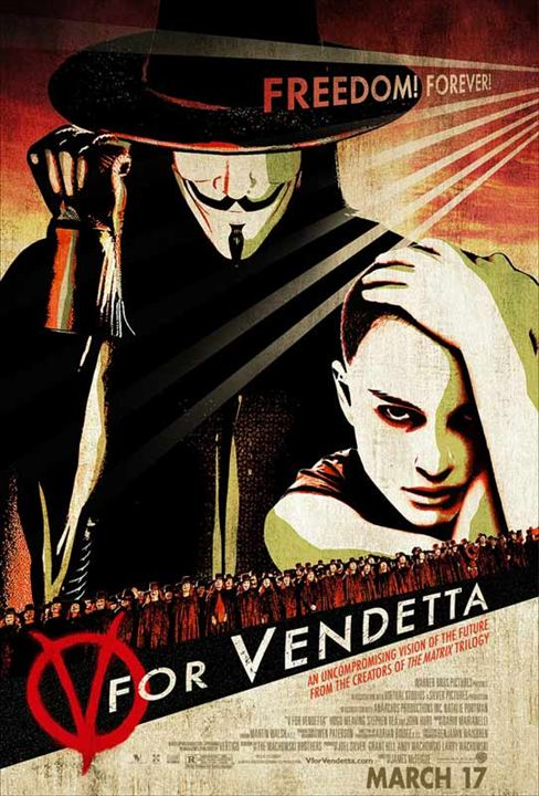 V pour Vendetta : Affiche James McTeigue
