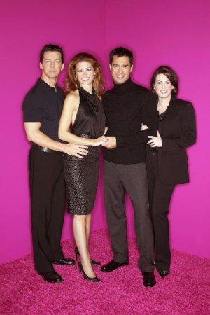 Will & Grace : Photo Debra Messing, Eric McCormack, Megan Mullally, Sean Hayes