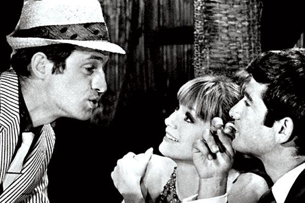 La Chasse à l'homme : Photo Edouard Molinaro, Françoise Dorléac, Jean-Claude Brialy, Jean-Paul Belmondo