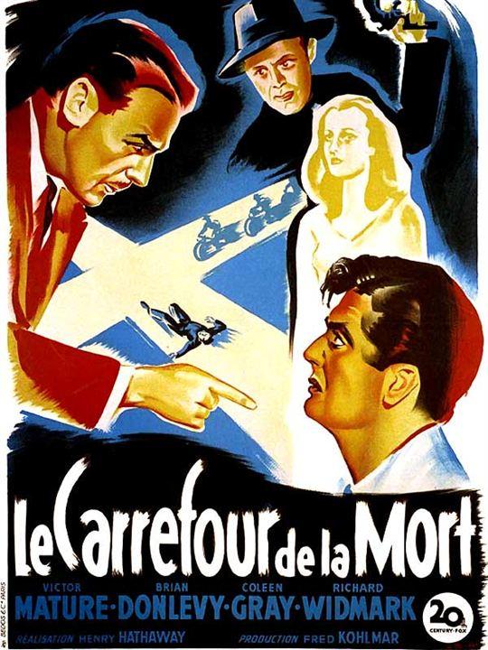 Le Carrefour de la mort : Affiche Brian Donlevy, Henry Hathaway, Richard Widmark, Victor Mature