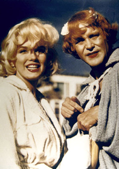 Certains l'aiment chaud : Photo Jack Lemmon, Marilyn Monroe