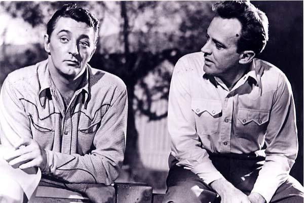 Les Indomptables : Photo Arthur Kennedy, Nicholas Ray, Robert Mitchum