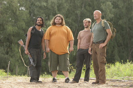 Lost, les disparus : Photo Dominic Monaghan, Jorge García, Naveen Andrews, Terry O'Quinn