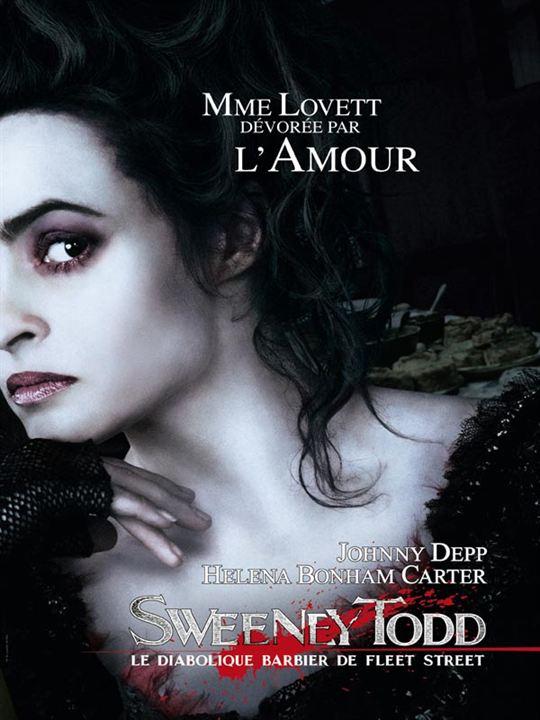 Sweeney Todd, le diabolique barbier de Fleet Street : Affiche Helena Bonham Carter, Johnny Depp
