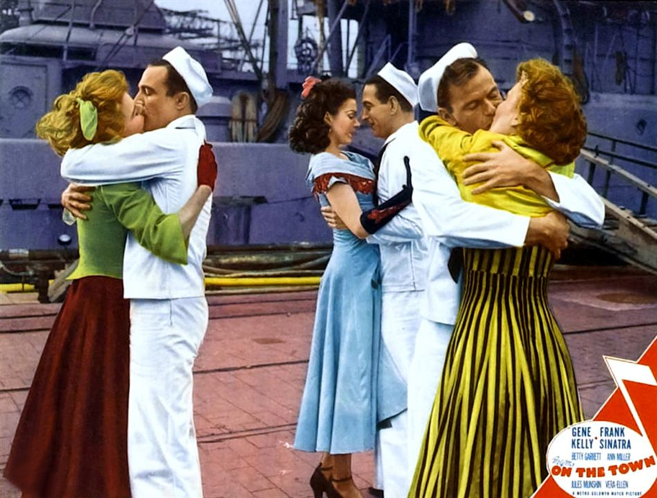 Un Jour à New York : Photo Ann Miller, Betty Garrett, Frank Sinatra, Gene Kelly, Jules Munshin