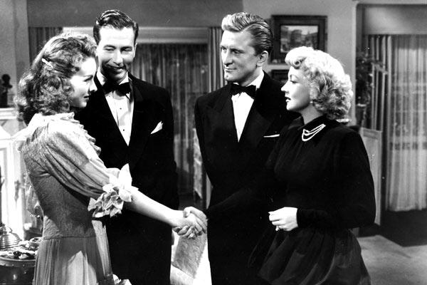 Chaînes conjugales : Photo Ann Sothern, Jeanne Crain, Jeffrey Lynn, Joseph L. Mankiewicz, Kirk Douglas