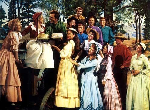 Les Sept femmes de Barberousse : Photo Howard Keel, Jane Powell, Julie Newmar, Russ Tamblyn, Stanley Donen