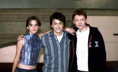 Harry Potter et la chambre des secrets : Photo Daniel Radcliffe, Emma Watson, Rupert Grint