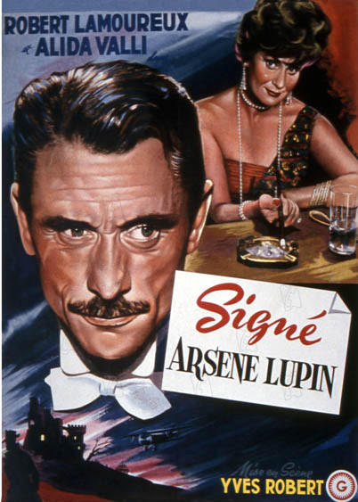 Signé Arsène Lupin : Affiche Yves Robert