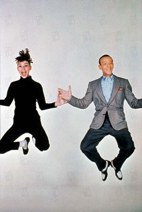Photo Audrey Hepburn, Fred Astaire, Stanley Donen