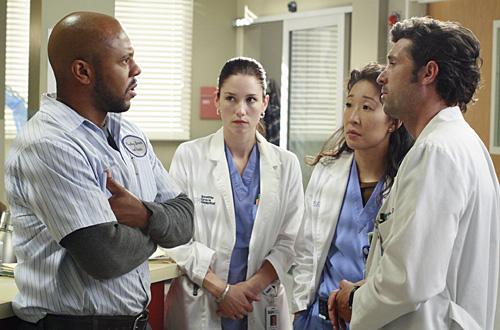 Grey's Anatomy : Photo Chyler Leigh, Patrick Dempsey, Rockmond Dunbar, Sandra Oh