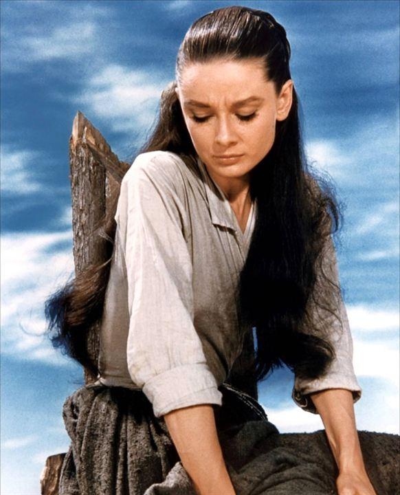 Le Vent de la plaine : Photo Audrey Hepburn, John Huston