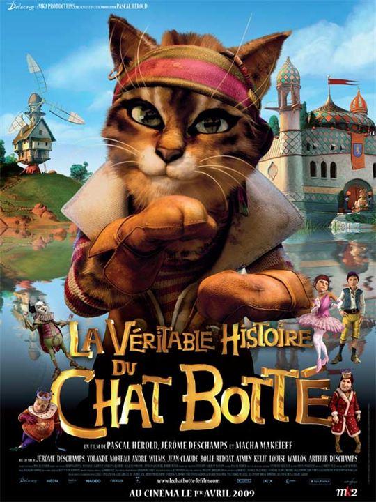 La Véritable histoire du Chat botté : affiche Jérôme Deschamps, Pascal Hérold
