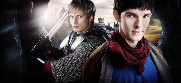 Merlin : Photo Bradley James (II), Colin Morgan (II)