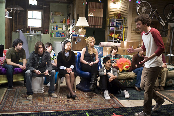 College Rock Stars : Photo Aly Michalka, Charlie Saxton, Gaelan Connell, Lisa Chung, Ryan Donowho