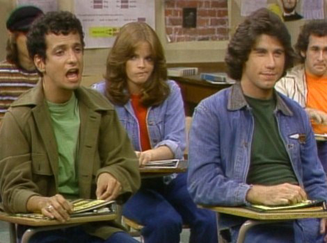 Welcome Back, Kotter : Photo Debralee Scott, John Travolta, Ron Palillo