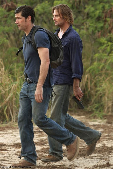 Lost, les disparus : Photo Josh Holloway, Matthew Fox