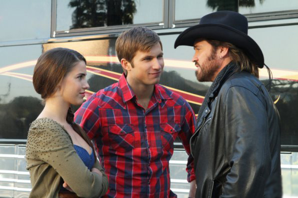 Photo Billy Ray Cyrus, Jessica Lowndes, Justin Deeley