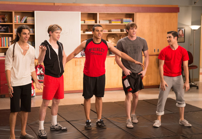Photo Blake Jenner, Chord Overstreet, Darren Criss, Jacob Artist, Samuel Larsen