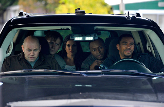 Photo Domenick Lombardozzi, Jimmi Simpson, Laz Alonso, Serinda Swan