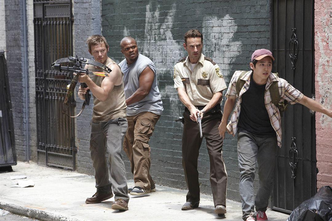 The Walking Dead : Photo Andrew Lincoln, IronE Singleton, Norman Reedus, Steven Yeun