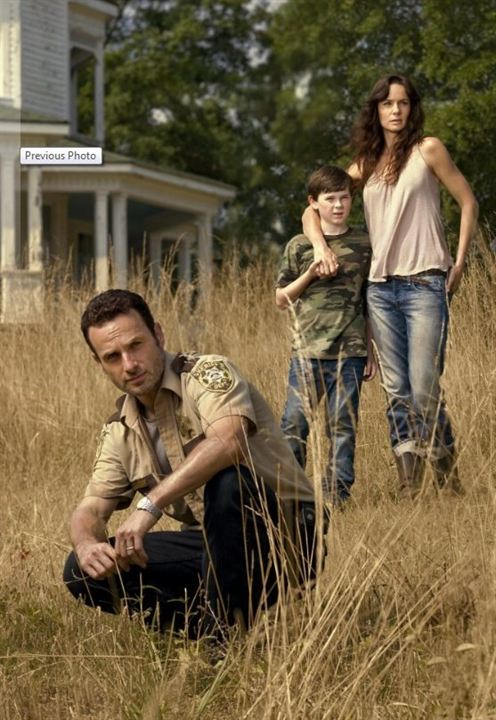 Photo Andrew Lincoln, Chandler Riggs, Sarah Wayne Callies