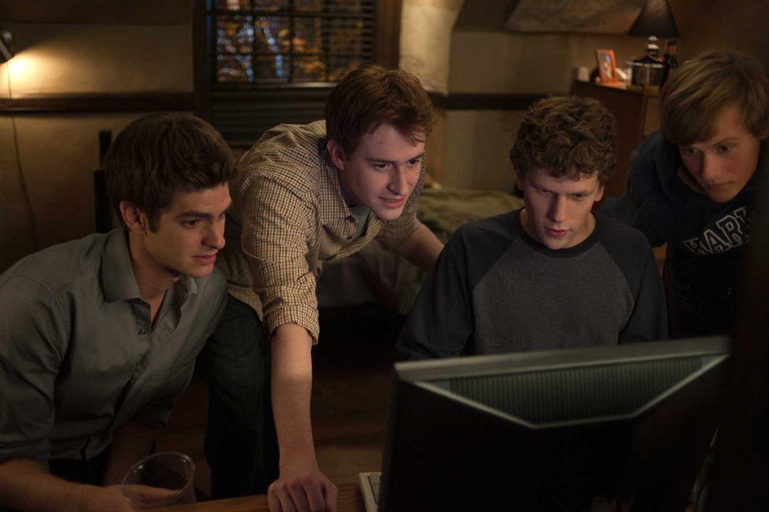 The Social Network : Photo Andrew Garfield, Jesse Eisenberg, Joseph Mazzello