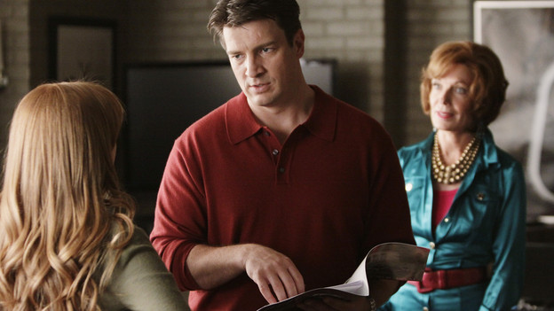 Castle : Photo Molly C. Quinn, Nathan Fillion, Susan Sullivan
