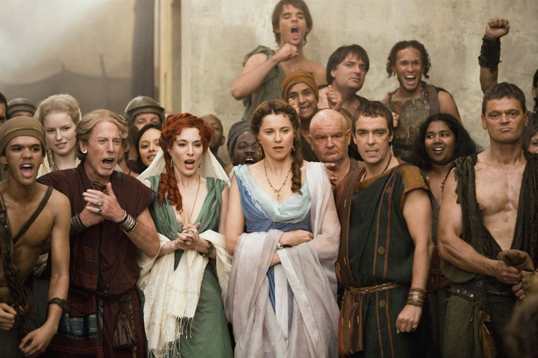 Spartacus : Les dieux de l'arène : Photo Jaime Murray, John Hannah, Lucy Lawless